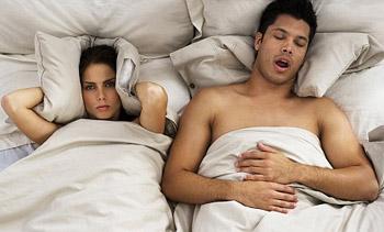 Snoring partner often makes nights disturbing.