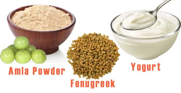 Fenugree, Amla and Dahi mix
