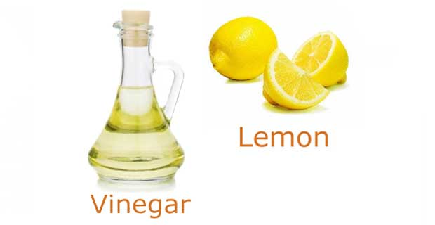 Lemon Juice and Vinegar helps in scalp problems
