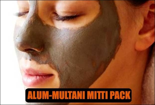 Alum Multani Mitti face pack is used as skin whitening naturally