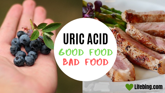 Good Food and Bad food in high uric acid level