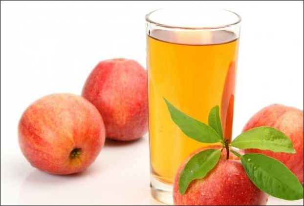 350 ml of apple juice is recommended for best health benefits