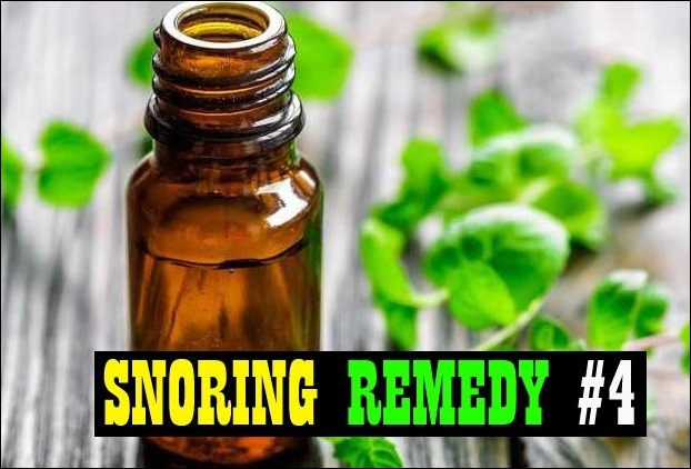 Snoring's another killer remedy is gargling with peppermint oil